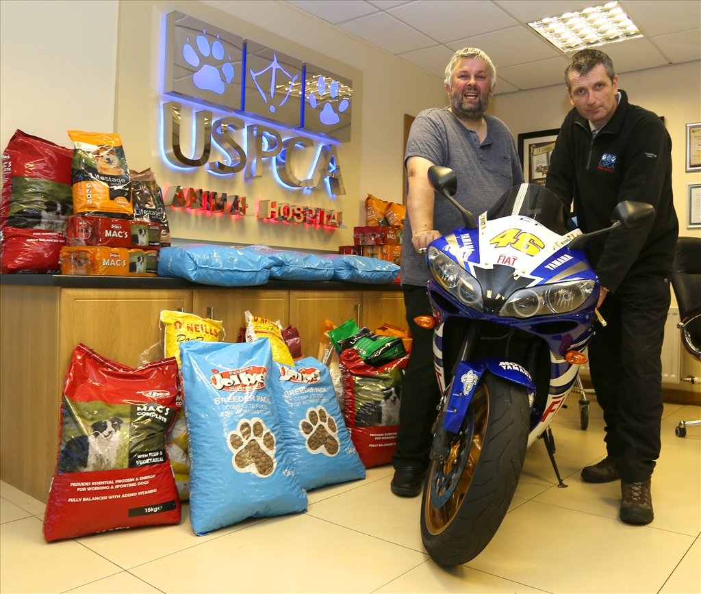 Rathfriland Motorcycle Club Annual Pet Food Run in Aid of the USPCA Animal Hospital